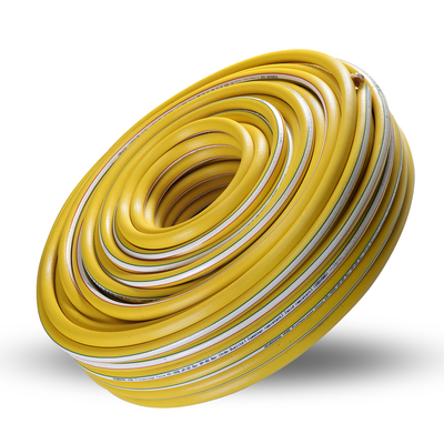 Yellow high-pressure gas hose
